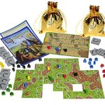 Carcassonne-Game-New-Edition-for-2-to-5-Players–Includes-River-Expansion-The-Abbot-Expansion–Bonus-2-Gold-Drawstring-Storage-Bags-by-Z-Man-Games-0-0