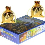 Carcassonne-Game-New-Edition-for-2-to-5-Players–Includes-River-Expansion-The-Abbot-Expansion–Bonus-2-Gold-Drawstring-Storage-Bags-by-Z-Man-Games-0-2