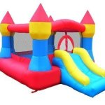 Castle-Inflatable-Bounce-House-w-Slide-12-x-9-Blower-Included-0