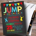 Chalk-Boys-Jump-Trampoline-Childrens-Birthday-Party-Invitations-0