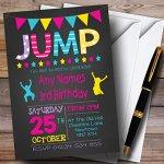 Chalk-Girls-Jump-Trampoline-Childrens-Birthday-Party-Invitations-0