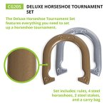 Champion-Sports-Tournament-Horseshoe-Set-Classic-Outdoor-Lawn-Game-includes-Two-Chrome-Two-Brass-Plated-Professional-Horseshoes-with-Solid-Steel-Stakes-Carrying-Case-0-2