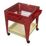 Childbrite-24-Sx-Tra-Deep-Clear-Tub-and-4-Casters-Red-Frame-Mobile-Mite-0