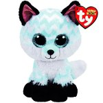 Claires-Girls-TY-Beanie-Boo-Large-Piper-the-Chevron-Fox-Plush-Toy-in-WhiteBlack-0