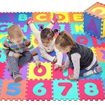Click-N-Play-Alphabet-and-Numbers-Foam-Puzzle-Play-Mat-36-Tiles-Each-Tile-Measures-12-X-12-Inch-for-a-Total-Coverage-of-36-Square-Feet-0