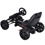 Costzon-Go-Kart-4-Wheel-Powered-Racer-Outdoor-Toy-Kids-Ride-On-Pedal-CarBlack-0-2