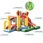 Costzon-Inflatable-Bounce-House-Mighty-Balloon-Slide-Bouncer-Kids-Jump-w-Basketball-50-PCS-Balls-Without-Blower-0-2