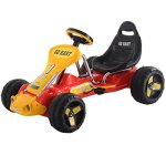 Costzon-Red-Black-Products-Go-Kart-4-Wheel-Kids-Ride-on-Car-Stealth-Pedal-Powered-Outdoor-Racer-0