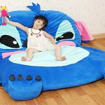 Cute-Cartoon-LiloStitch-Image-Sleeping-Bag-Sofa-Bed-Twin-Bed-Double-Bed-Mattress-for-Kids-0-0