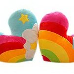 Cute-Plush-Toy-For-Valentines-Day-Gift-A-Pair-Heart-shaped-Rainbow-Color-Pillow-0
