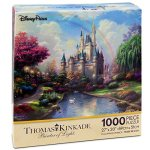 Disney-Parks-A-New-Day-at-the-Cinderella-Castle-Thomas-Kinkade-1000-Piece-Jigsaw-Puzzle-0