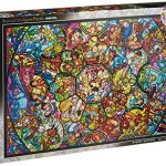 Disney-Stained-Art-Jigsaw-Puzzle1000P-All-Stars-Stained-Glass-DS-1000-764-0