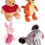 Disney-Store-Original-Winnie-the-Pooh-Plush-Set-of-4-with-Piglet-Tigger-Winnie-and-Eeyore-0
