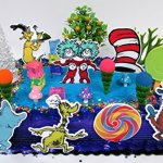 Dr-Seuss-Themed-Deluxe-Birthday-Cake-Topper-Set-Featuring-Various-Characters-and-Decorative-Themed-Accessories-0