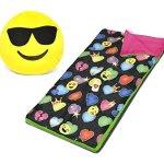 Emoji-Pals-Sleeping-Bag-Set-Black-54X30-0