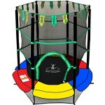 Exacme-0005-New-Youth-Jumping-Round-Trampoline-Exercise-Safety-Pad-Enclosure-Combo-Kids-55-0