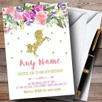 Floral-Gold-Unicorn-Childrens-Birthday-Party-Invitations-0