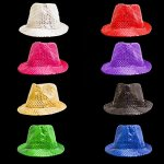 Fun-Central-O993-LED-Light-Up-Sequin-Fedoras-Assorted-Colors-12ct-0-2