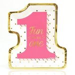 Fun-to-be-One-1st-Birthday-Girl-with-Gold-Foil-Party-Tableware-Plates-Cups-Napkins-Bundle-for-16-0-0