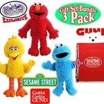 GUND-Sesame-Street-Full-Body-Plush-Hand-Puppets-Featuring-Elmo-Cookie-Monster-Big-Bird-Exclusive-Mattys-Toy-Stop-Storage-Bag-Gift-Set-Bundle-3-Pack-0