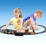 Ginzick-Rc-Remote-Control-Super-Fun-Classic-Electric-Train-Set-with-Lights-Sounds-and-Real-Smoke-Perfect-Gift-and-Special-for-Holiday-0-0