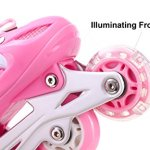 Girls-Inline-Skates-Adjustable-Rollerblades-for-Kids-Girls-Illuminating-Wheel-the-Premium-Breathable-Mesh-Roller-Skates-Double-Secure-Lock-0-2