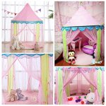 Girls-Princess-Castle-Play-Tents-EocuSun-Christmas-Xmas-Children-Pink-Play-Tent-House-with-Storage-Case-for-Indoor-and-Outdoor-Use-Santa-Gifts-0-1