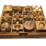 Handmade-Puzzle-Sets-Twelve-Brain-Teasers-with-the-Puzzle-Showcase-12-Wooden-Game-Gift-Set-Handmade-Wooden-Puzzles-for-Adults-By-RATREE-SHOP-0-2