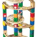 Hape-Quadrilla-Wooden-Marble-Run-Construction-Twist-Add-On-Set-0