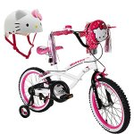 Hello-Kitty-18-Steel-White-Frame-Bicycle-Outdoor-Sports-Kids-Bike-for-Girls-with-Helmet-0