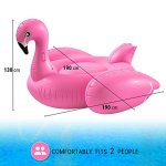 Huge-Inflatable-Pink-Flamingo-Pool-Float-Large-6-Foot-Floatie-for-Kids-and-Adults-with-Riding-Handles-Extra-Thick-Heavy-Puncture-Resistant-Duty-Vinyl-By-Breco-0-1