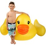 Inflatable-Duck-Float-Pool-Raft-HUGE-80-Rubber-Duck-Pool-Float-Inflatables-for-Adults-Kids–Perfect-Pool-Toy-for-the-Beach-Floats-with-Durable-Yellow-Vinyl-Guaranteed-Floatie-Fun-on-Water-0