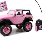 Jada-Toys-GIRLMAZING-Big-Foot-Jeep-RC-Vehicle-116-Scale-Pink-0-0