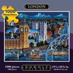 Jigsaw-Puzzle-London-1000-Pc-By-Dowdle-Folk-Art-0