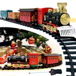 Joyin-Express-Christmas-Train-Set-with-Remote-Control-Lights-and-Sounds-12-Tracks-4-Train-Cars-and-Railway-Toy-Train-for-Christmas-Toy-Christmas-Gift-and-Christmas-Tree-Decoration-by-Joyin-Toy-0