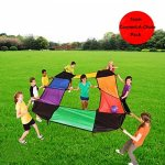 KINDEN-Parachutes-Sports-Team-Building-Activity-PE-Recreation-Youth-Character-Development-Toy-for-Kids-and-Adults-0