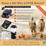 Kids-Binoculars-Compact-Binoculars-30×60-Kids-Night-Vision-Binoculars-with-Case-and-Solar-USB-Kids-Camping-Lantern-Includes-Reflective-Arm-bands-Outdoor-Exploration-Set-Adventure-Kit-0-0