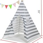 Kids-Canvas-Teepee-Play-Tent-Portable-Playhouse-By-Lubber-0-1