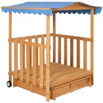 Kids-Outdoor-Retractable-Playhouse-Fort-With-Sandbox-Childrens-Play-Area-0-0