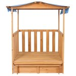 Kids-Outdoor-Retractable-Playhouse-Fort-With-Sandbox-Childrens-Play-Area-0-1