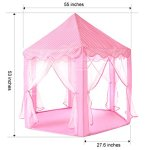 Kids-Play-House-Princess-Tent-Indoor-and-Outdoor-Hexagon-Pink-Castle-Play-tent-for-Girls-with-LED-Light-by-MonoBeach-0-0