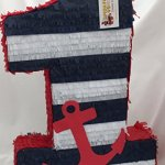 Large-Nautical-Number-One-Pinata-23-Tall-Navy-Blue-White-Red-Color-0