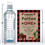 Lumberjack-1st-Birthday-Custom-Personalized-Party-Invitations-Twenty-5-X-7-Cards-Including-20-White-Envelopes-by-AmandaCreation-Perfect-for-first-birthday-parties-0-2