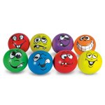 MAC-T-PE07209E-Funny-Face-Soft-Playground-Balls-Assorted-Colors-Set-of-8-0