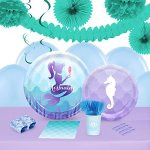 Mermaids-Under-The-Sea-Party-Supplies-Tableware-and-Decoration-Party-Pack-for-16-Guests-0