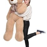 MorisMos-47-inches-Giant-Huge-Teddy-Bear-Stuffed-Animals-Plush-Toy-for-Children-Girlfriend-Tan-0-2