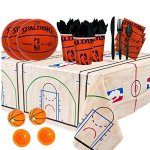 NBA-Basketball-Spalding-Party-Supplies-Party-Pack-for-16-guests-Plates-Cups-Full-Cutlery-Set-Napkins-Table-cover-and-Basketball-Poppers-0