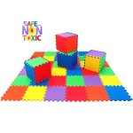 NON-TOXIC-Extra-Thick-36-Piece-Children-Play-Exercise-Mat-Comfortable-Cushiony-Foam-Floor-Puzzle-Mat-6-Vibrant-Colors-for-Kids-Toddlers-0