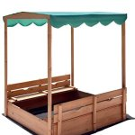 Naomi-Home-Kids-Canopy-Cedar-Sandbox-with-2-Convertible-Benches-0