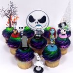 Nightmare-Before-Christmas-10-Piece-Deluxe-Cupcake-Topper-Set-Featuring-Zero-Barrel-Lock-Shock-Sally-Jack-Skellington-and-Other-Decorative-Themed-Accessories-Cake-Topper-Figures-Range-from-2-to-3-Tall-0
